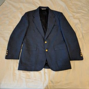 Stafford Men's Light Navy Blue Blazer Gold Buttons